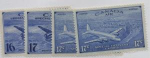 Canada Sc  CE1-4 Airmail Special delivery stamp set mint NH