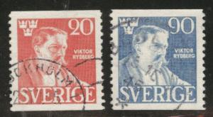 SWEDEN Scott 363-364 used 1945 coils CV$ 0.85