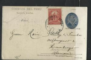 PERU (PP0303B)  2C PSC UPRATED 2C  1903   TO GERMANY