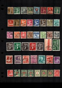 Switzerland  45  diff  used and mint   lot collection