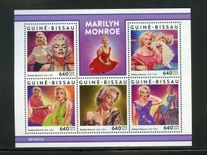 GUINEA BISSAU 2019 MARILYN MONROE SHEET  MINT NEVER HINGED