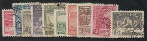 Ecuador - 1939 - SC 377-81,C65-69 - Used - Complete sets - 377 LH
