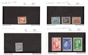 Lot of 21 Iceland MH Mint Hinged Stamps Scott Range # 174 - 254 #142140 R