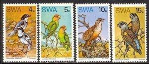 South West Africa 1974 Rare Birds set Sc# 363-66 NH