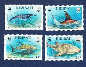 KIRIBATI - Scott 562-565 - FVF MNH - FISH - 1991