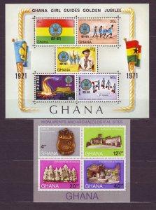 Z557 Jlstamps 1970 & 71 ghana s/s mnh #408a, 425a