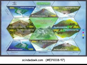 INDONESIA - 2003 FAMOUS VOLCANOES - MIN. SHEET MINT NH