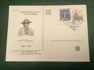 ICOLLECTZONE Slovakia Baden Powell Memorial Pistol Card  (C300)