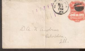 Scott U218 -  Pre-Stamped Envelope .  #02 U218FDC