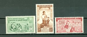 INDO-CHINA 1942 VICHY ISSUE #CB2-4...SET...MINT...$3.00