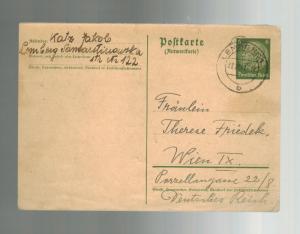 1941 Lemberg Poland Jewish Ghetto Postcard Cover to Vienna Jakob Katz Judaica