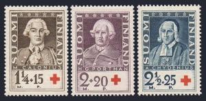 Finland B18-B20,MNH.Michel 188-190. Red Cross-1935.Mathias Calonius,G.Porthan,