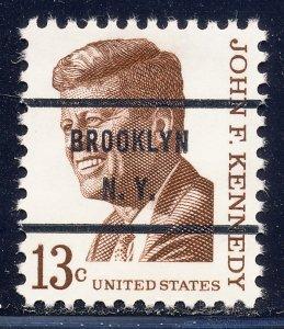 Brooklyn NY, 1287-71 Bureau Precancel, 13¢ Kennedy