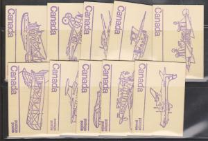 Canada #BK76e 1976 Aircraft Ten Diff. Covers - Wavy Lines on Inside NH