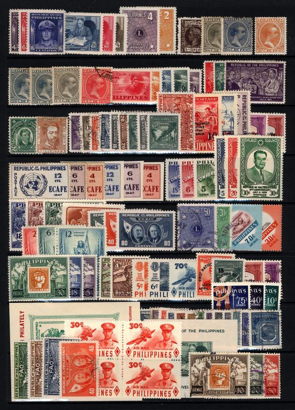 Philippines #194-#C86 1898-1960 Mostly Mint, King Alfonso, Air Mail, 105 items