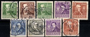 Sweden #290-98 F-VF Used CV $4.35 (X1083)