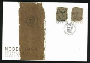Sweden. FDC Cachet 1999 Nobel Prize.  Engraver Cz Slania