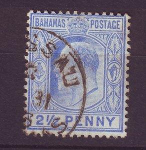 J24084 JLstamps 1902 bahamas used #38 king wmk 2