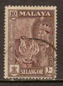 Malaya-Selangor  #119  used  (1961)