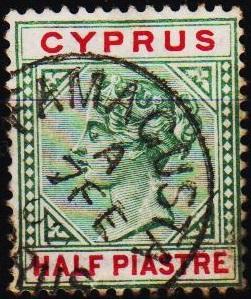 Cyprus.1881 1/2pi S.G.40 Fine Used