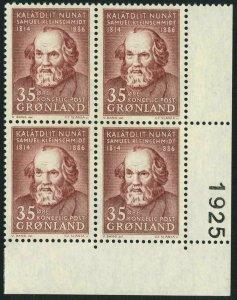 Greenland 68 block/4,MNH.Michel 64. Samuel Kleinschmidt,1964.