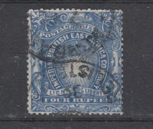 British East Africa QV 1890 4 Rupees SG18 VFU J5828
