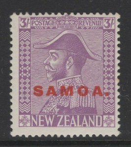 SAMOA SG170 1927 3/= PALE MAUVE MTD MINT