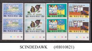 NAURU - 1986 10th ANNIV. OF BANK OF NAURU - TRAFFIC LIGHT 4V PAIR MNH