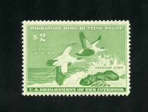 UNITED STATES DUCK STAMP SCOTT#RW24  MINT HINGED--SCOTT VALUE $85.00