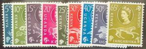 Kenya Uganda Tanganyika 1960 Scott 120-28 short set MLH