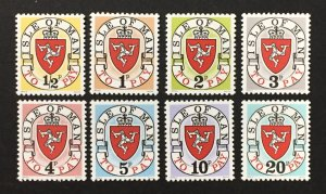 Isle of Man 1973 #J1a-8a, Postage Dues 1st Issues, MNH.