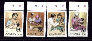 Zambia 440-43 MNH 1988 Child Survival