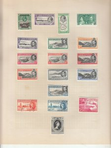 ASCENSION ISLAND ALBUM PAGE  VALUES MOSTLY GEORGE 5TH-QE 2ND, MOUNTED MINT