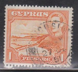 CYPRUS Scott # 146 Used - KGVI & South Batre