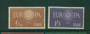 Ireland #175-76 (1960 Europa set) VFMNH CV $47.50