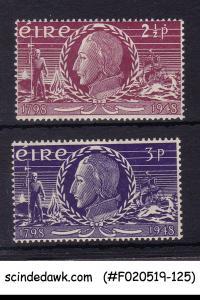 IRELAND - 1948 INSURRECTION OF 1798 150th ANNIV. SCOTT#135-136 2V MLH
