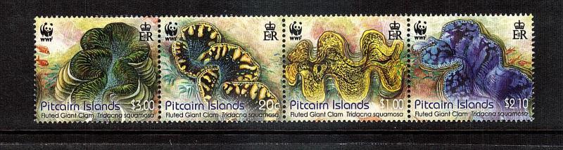 Giant Clams of Pitcarin....4 var..mnh