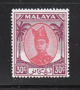 Malaya Trengganu 1949 Sc 72 30c MNH