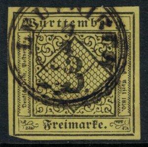 Wurttemberg #2 4 margins  CV $7.25