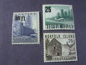 NORFOLK ISLAND # 26-28 -MINT/HINGED-COMPLETE SET---QEII----1960