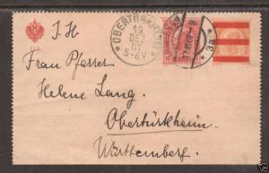 Austria Mi K46c used 1907 10h on 6h Letter Card to Germany