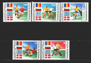 Romania. 1990. 4586-91 from the series. Football. MNH.