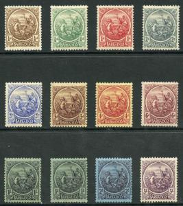 Barbados SG213/28 1921 Set of 12 M/Mint