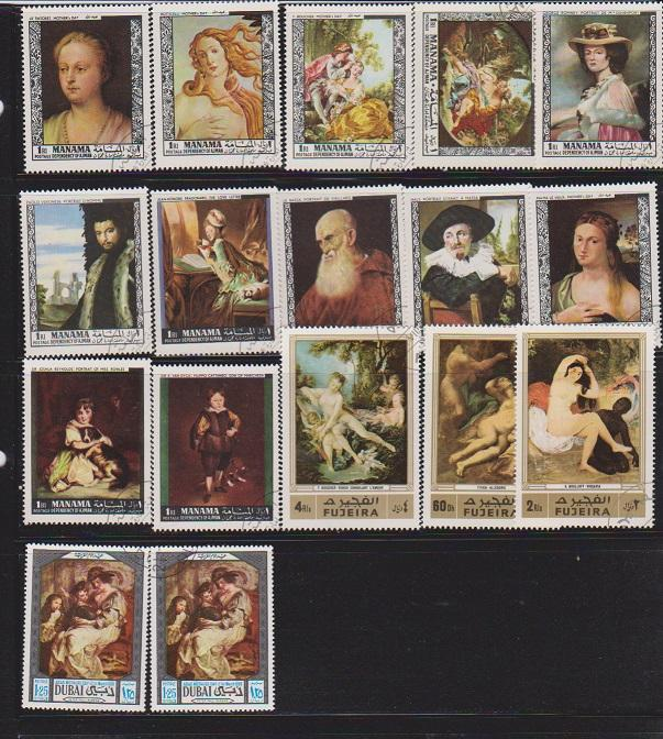PAINTINGS SET OF STAMPS MNH  LOT#481