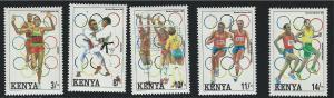 Kenya SC578-582 Olympic Summer Games, Barcelona MNH 1992