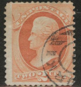USA Scott 178 Used 1875 2c stamp  on wove paper