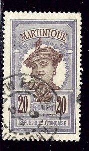 Martinique 73 Used 1908 issue