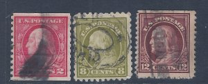 U.S. USED #413,414,417 SCV $57.00 STARTS AT A LOW PRICE!