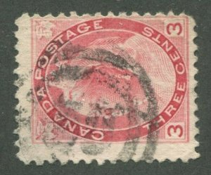 CANADA #78 USED 2-RING NUMERAL CANCEL 30?