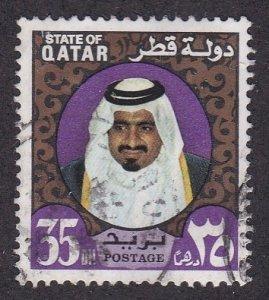 Qatar # 358, Sheik Khalifa, Used, 1/3 Cat.
